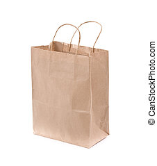 Shopping bag made from brown recycled paper. Add your own...