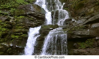 Beautiful place Shipot waterfall in the Carpathians,...