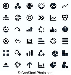 Vector Illustration Set Of Simple Icons. Elements Part,...