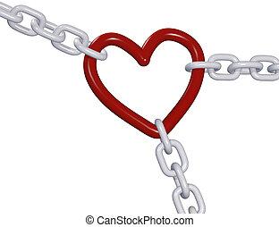 Valentine 3D heart three love chain links pull - Three 3D...
