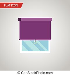 Isolated Balcony Flat Icon. Glazing Vector Element Can Be...