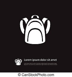 Isolated Packsack Icon. Haversack Vector Element Can Be Used...
