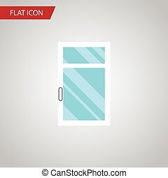 Isolated Glass Flat Icon. Clean Vector Element Can Be Used...