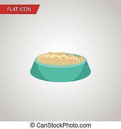 Isolated Nutrient Flat Icon. Feeding Vector Element Can Be Used For Bird, Food, Nutrient Design Concept.