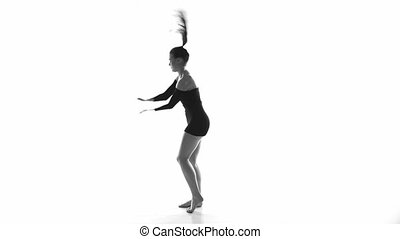Modern beautiful ballerina - Modern beautiful woman dancer...