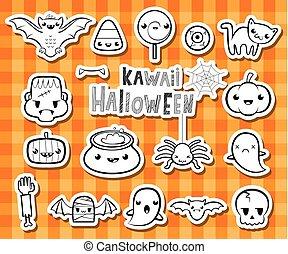 Kawaii halloween illusrations