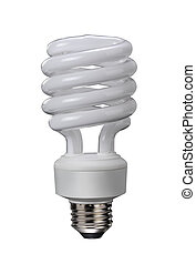 Fluorescent Light Bulb - Energy saver bulb.
