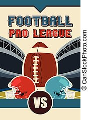 American Football Poster - A vector illustration of American...