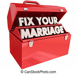 Fix Your Marriage Counseling Tools Toolbox 3d Illustration