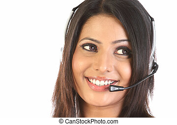 customer support operator woman