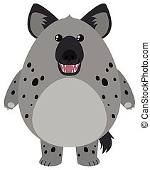Hyena with round body illustration