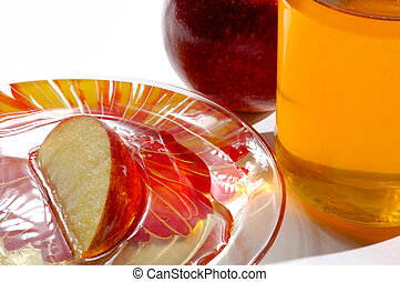 Apples and Honey - Apples and honey Jewish new year festive...