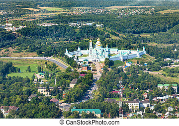 New Jerusalem Monastery in suburb of Istra town - above view...