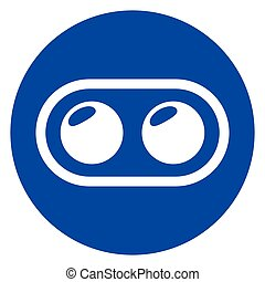 dual camera phone circle icon - Illustration of dual camera...