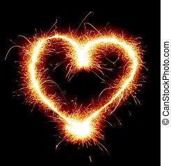 corazón, brillante
