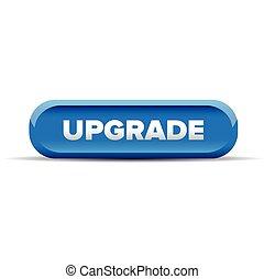 Upgrade button blue vector