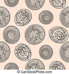 Seamless cork wood pattern. Wooden texture vector...