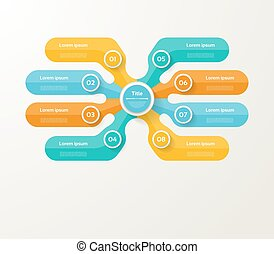Vector infographic template for diagram, graph, presentation and chart. Business concept with 8 options, parts, steps or processes