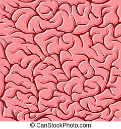 Seamless pattern with brains Vector