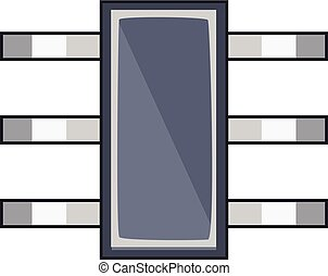 Old microprocessor icon, cartoon style - Old microprocessor...