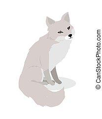 Fox Cartoon Vector Illustration in Flat Design - Fox cartoon...
