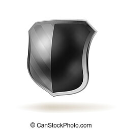 Vector shield template item. EPS 8