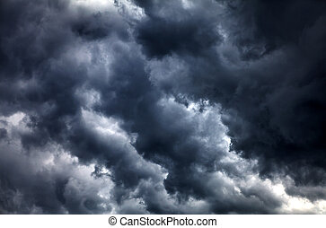 Dramatic Clouds Background - Dark and Dramatic Storm Clouds...