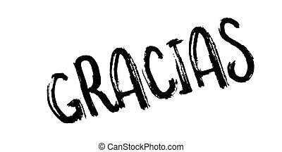 Gracias rubber stamp. Grunge design with dust scratches....