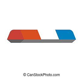 police car light sign isolated. Vector illustration