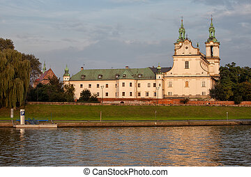 Church of St. Stanislaw or Church on the Rock in Krakow -...