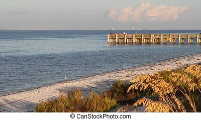 Fort Pickens Fishing Pier - Fisherman try their luck at the...