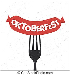 Oktoberfest lettering. - Hand drawn typography poster....