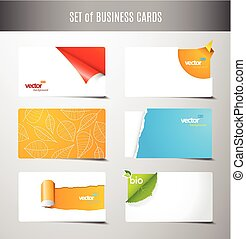 Set of 6 type of creative business cards.