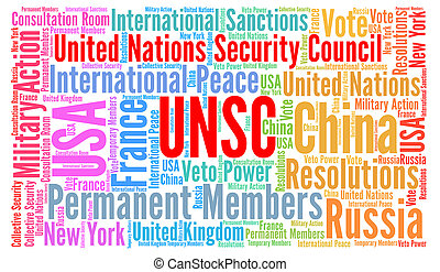 UNSC, United Nations Security Council word cloud