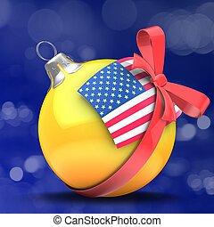 3d orange Christmass ball - 3d illustration of orange...