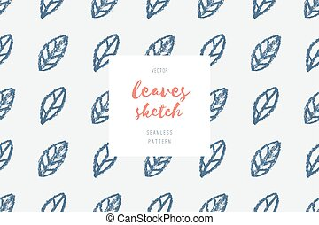 hand drawn leaves pattern