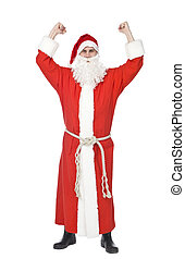 Santa Claus - Happy Santa isolated on a white background