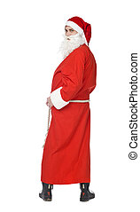 Santa Claus shot from behind isolated on a white background