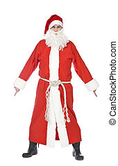 Santa Claus - Dancing Santa claus isolated on a white...