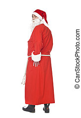 Santa Claus - Flirty Santa isolated on a white background
