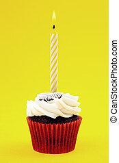 Cupcake, com, vela