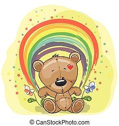 Bear with rainbow