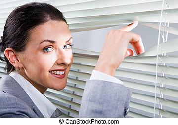 Pretty woman office worker