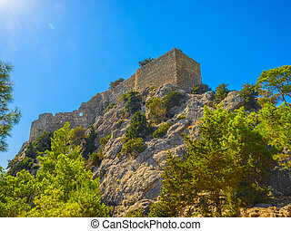 The Castle of Monolithos on the Rhodes island - The Castle...