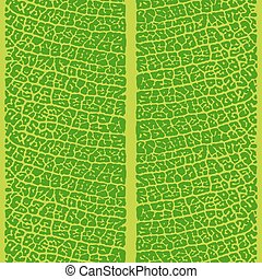 Seamless green leaf closeup vector pattern. Repeating...