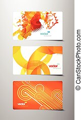 Set of abstract colorful gift cards.