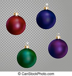 Collection of Christmas ball tree decoration dark blue green...