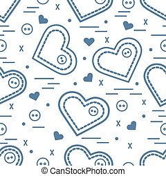 Cute seamless pattern with needle cases and buttons....