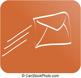 email web icon button color vector illustration