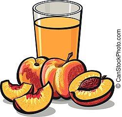 fresh peaches juice